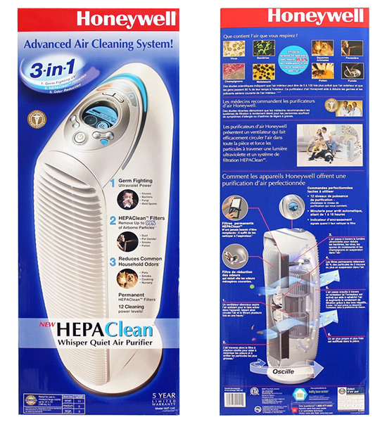 Honeywell HEPAClean Germ Fighting Air Purifier with Odor Reduction, HHT-145