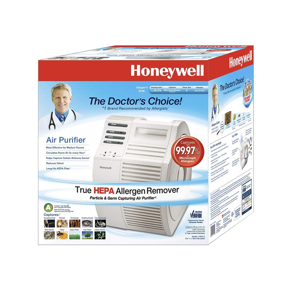 honeywell quietcare true hepa air purifier with germ reduction 17000s - Honeywell Hepa Air Purifier
