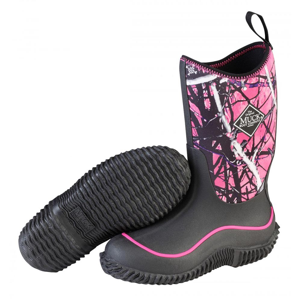 Muck Boots KBH-MSMG Kid's Hale Outdoor Sport Boot Black/Muddy Girl ...