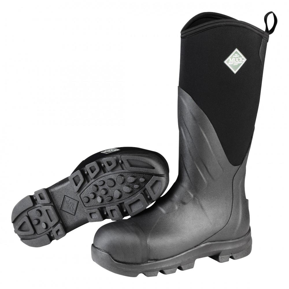Muck Boots MGST-000 Muck Grit Steel Safety Toe Work Boot Black ...