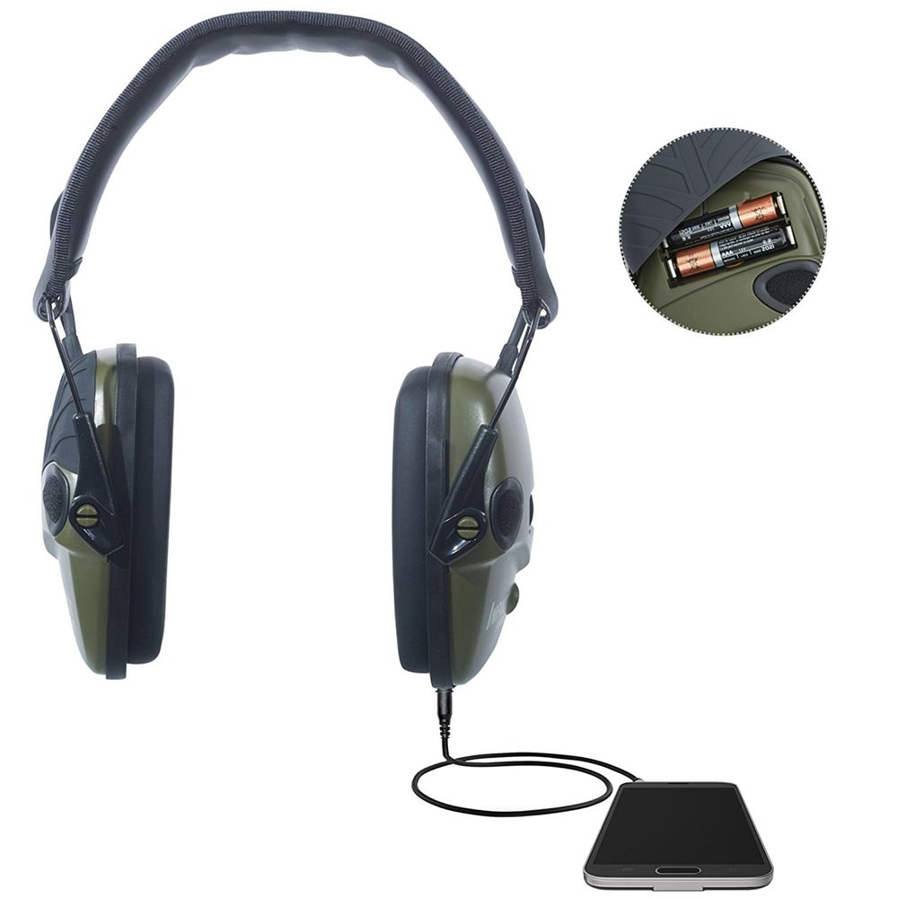 Honeywell Impact Sport Sound Amplification Electronic Earmuff, Hunter Green - R-01526