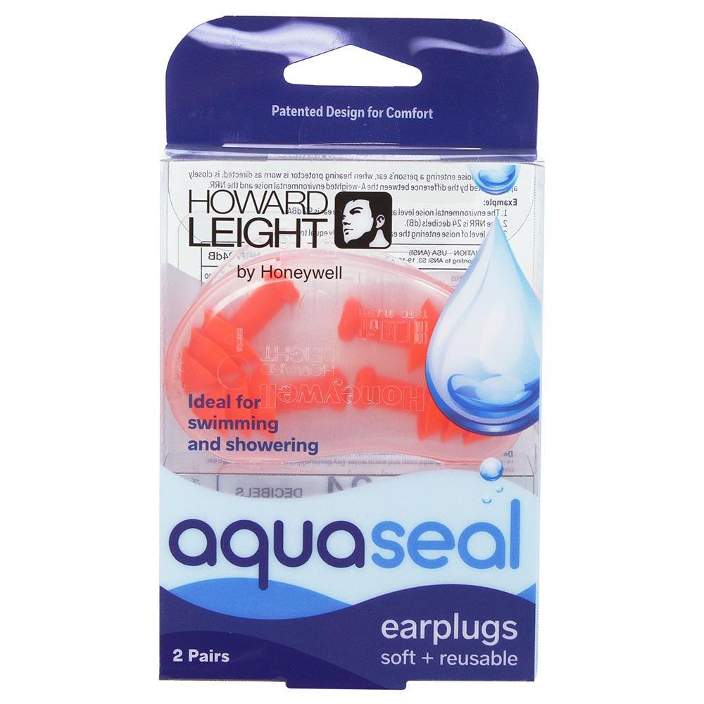 Honeywell AquaSeal Water-Blocking Reusable Earplugs with Carrying Case, 2-Pairs - R-01684