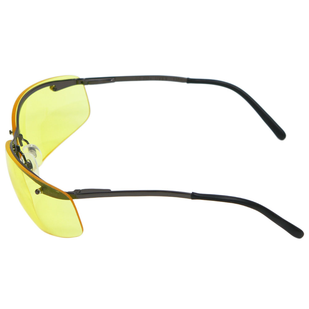 Honeywell Slate Shooter's Safety Eyewear, Metal Frame, Amber Lens, Scratch-Resistant Hardcoat Lens Coating - R-01771