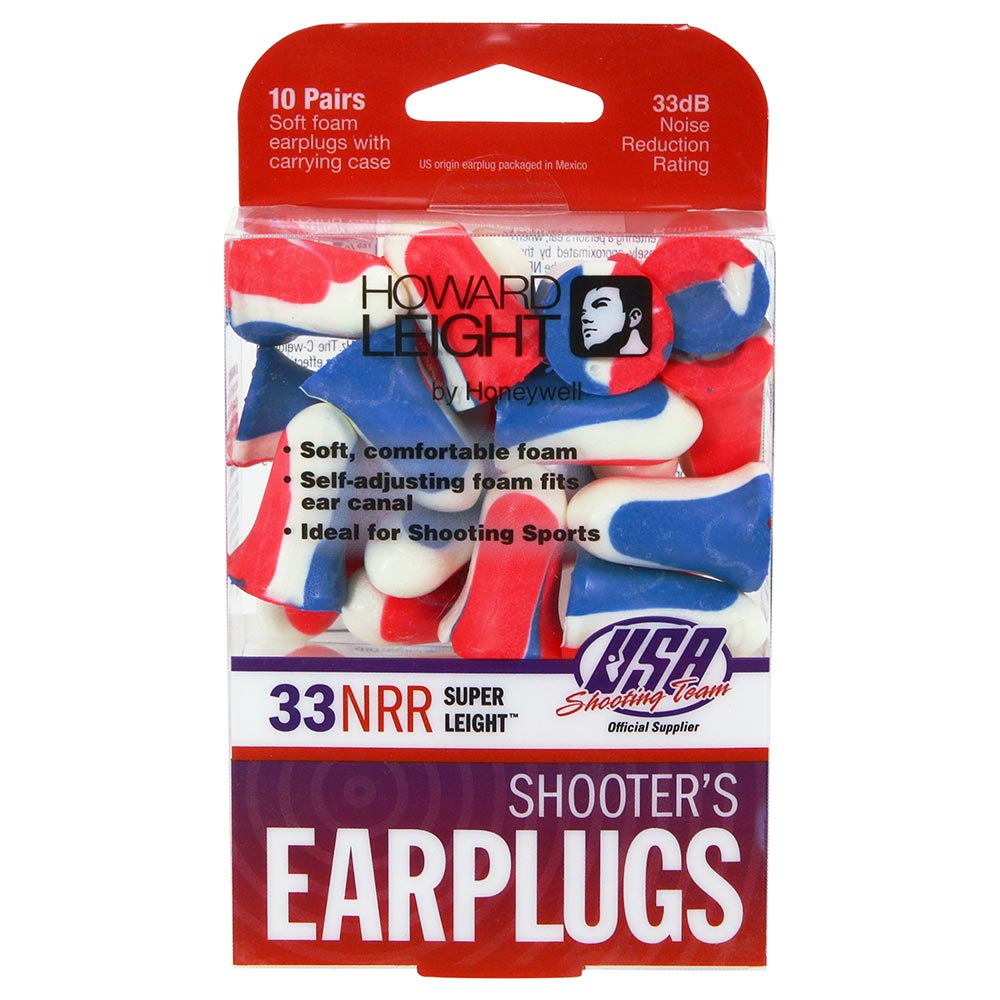 Honeywell USA Shooters Earplugs, 10 pair pack red/white/blue - R-01891