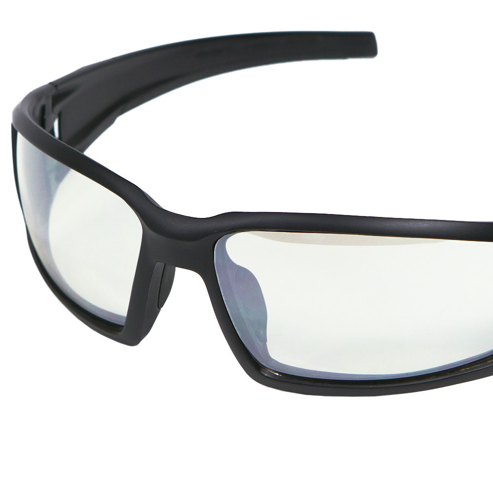 Honeywell Hypershock Shooter's Safety Eyewear, Black Frame, SCT-Reflect 50 (I/O) Lens with Scratch-Resistant Hardcoat Lens Coating - R-02222