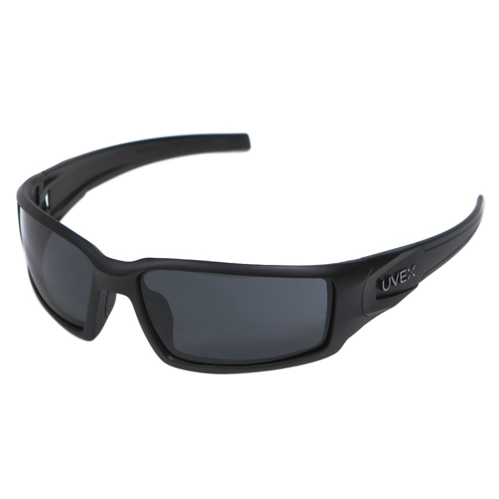 Honeywell Hypershock Shooter's Safety Eyewear, Black Frame, Gray Lens with Uvextreme Plus Anti-Fog lens coating - R-02223