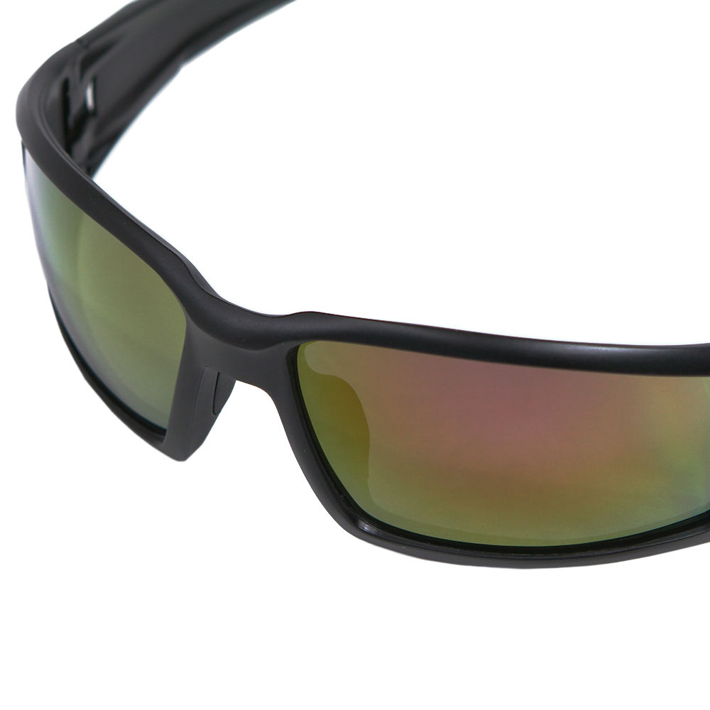 Honeywell Hypershock Shooter's Safety Eyewear, Black Frame, Red Mirror Lens with Scratch-Resistant Hardcoat Lens Coating - R-02224