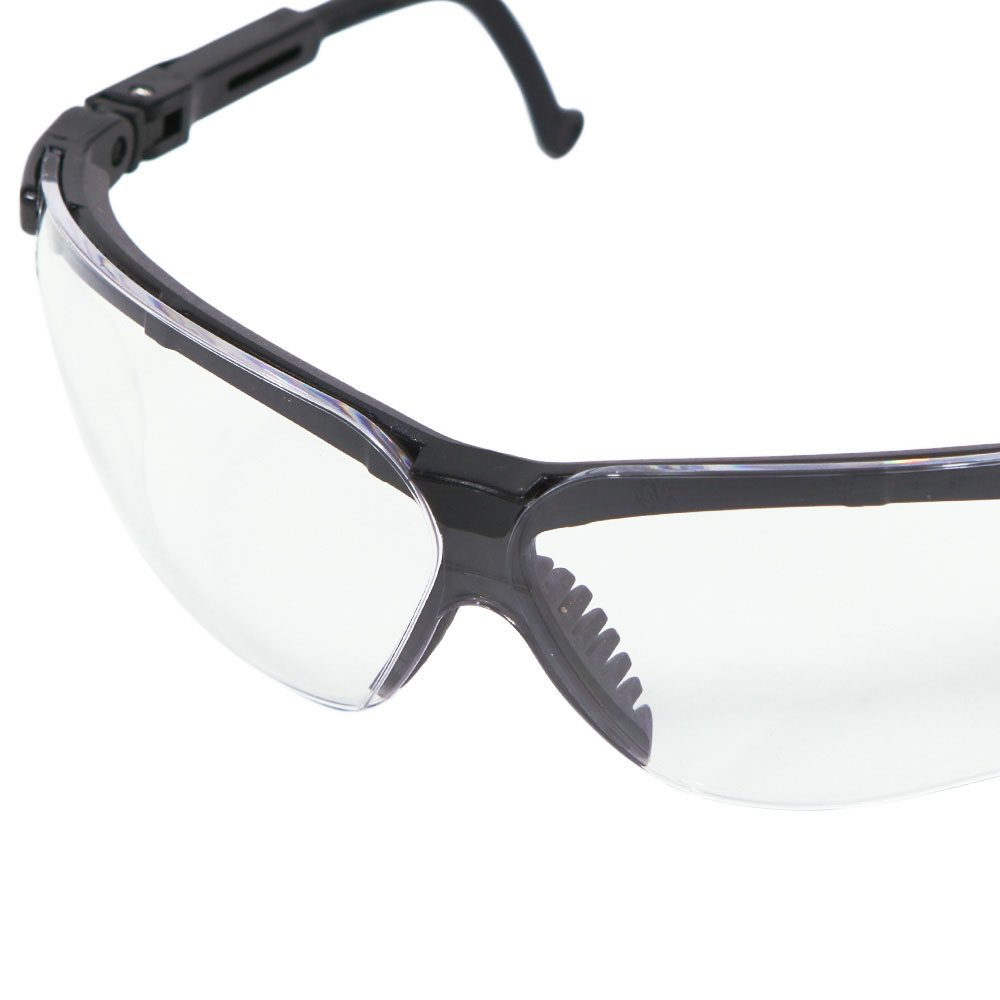 Honeywell Genesis Shooter's Safety Eyewear, Black Frame, Clear Lens, Anti-Fog Lens Coating - R-03570