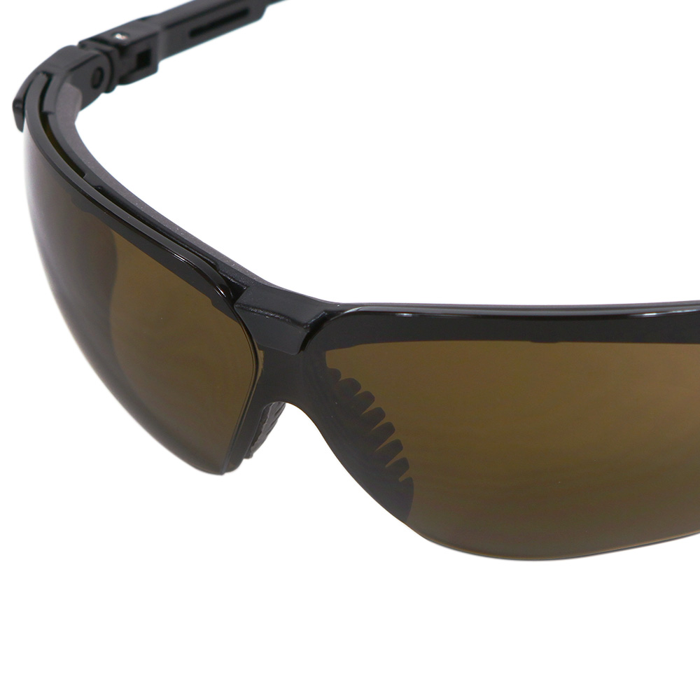 de26a10ef4b3 Honeywell Genesis Shooter's Safety Eyewear, Black Frame, Espresso Lens,  Anti-Fog Lens