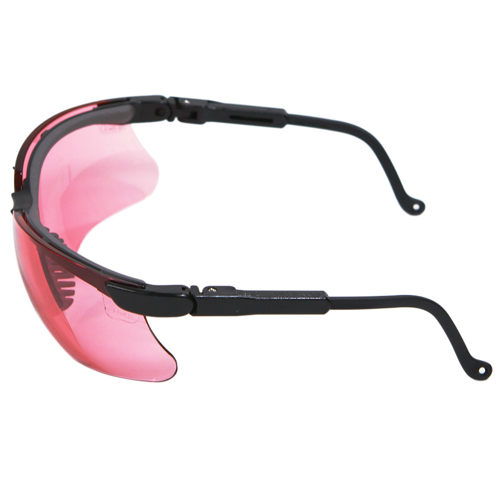 Honeywell Genesis Shooter's Safety Eyewear, Black Frame, Vermillion Lens, Anti-Fog Lens Coating - R-03575