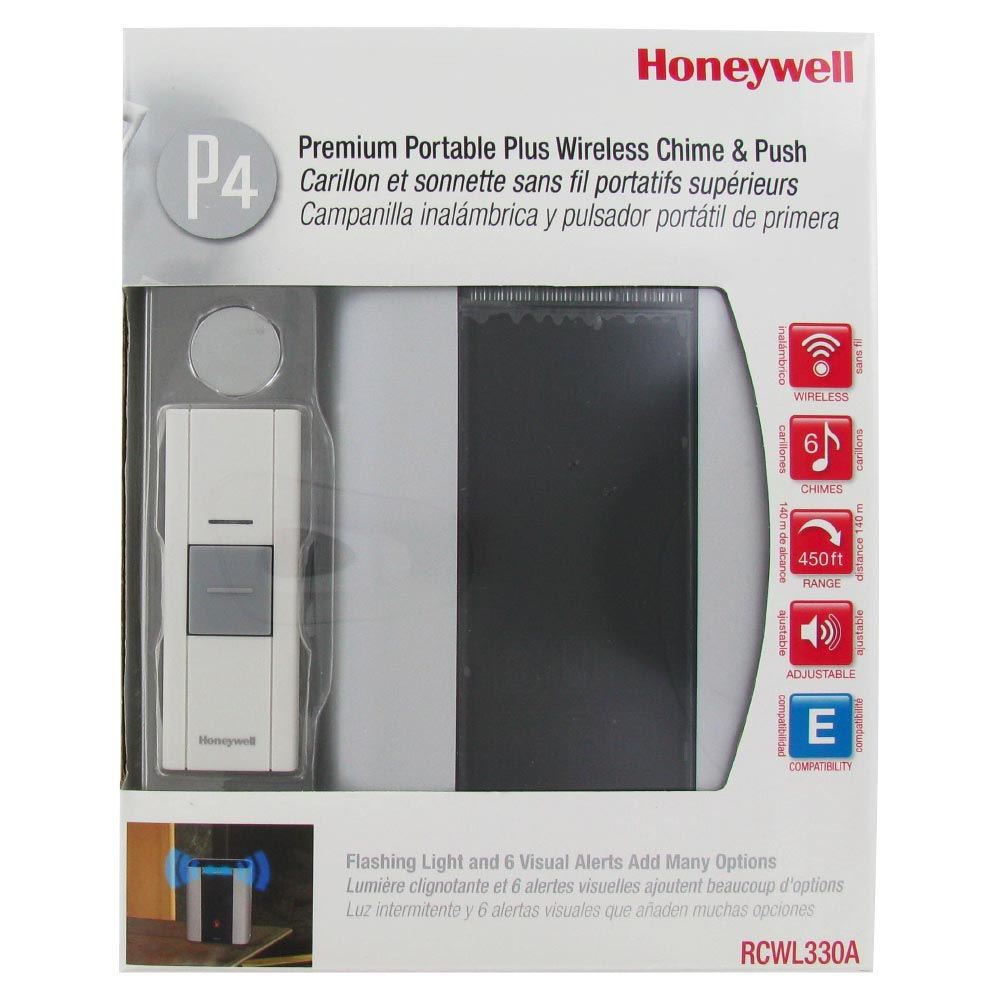 Honeywell RCWL330A100/N P4-Premium Portable Wireless Door Chime and Push Button  sc 1 st  Honeywell Store & Honeywell RCWL330A100/N P4-Premium Portable Wireless Door Chime and ...