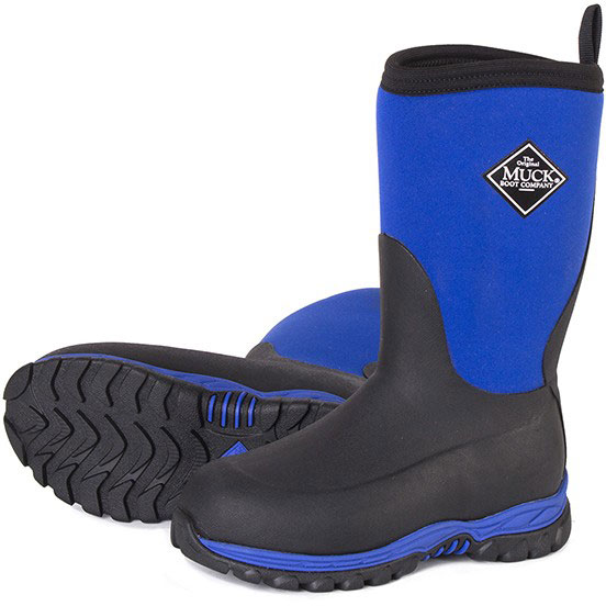 Muck Boots Kid's Rugged II Performance Outdoor Boot, Black/Blue, RG2-200