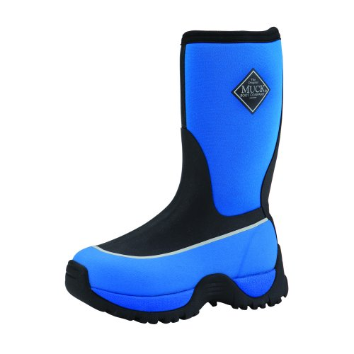 The Muck Boots Kid's Rugged Outdoor Sport Boot (Black / Blue) are ...
