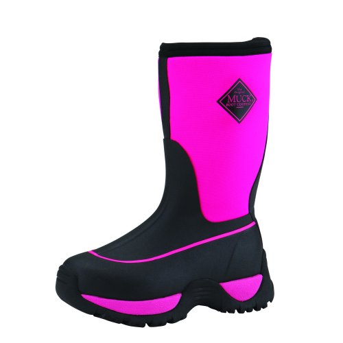 The Muck Boots Kid's Rugged Outdoor Sport Boot (Black / Hot Pink ...