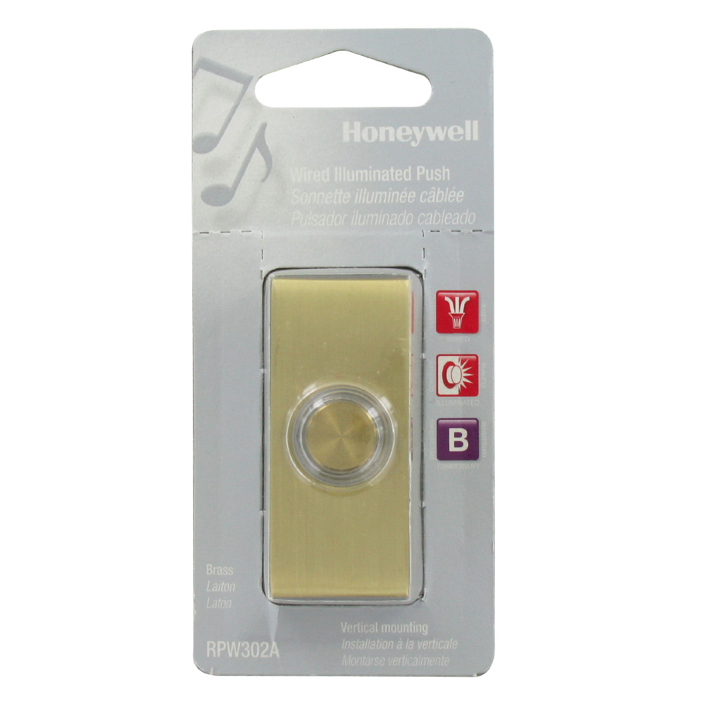 Honeywell RPW302A1007/A Wired illuminated Surface Mount Push Button for Door Chime
