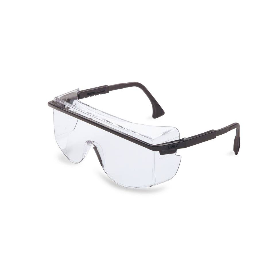 Honeywell Astro OTG 3001 Safety Eyewear, Over-The-Glass style, Black Frame, Clear Lens, Scratch-Resistant Hardcoat Lens Coating - RWS-51015