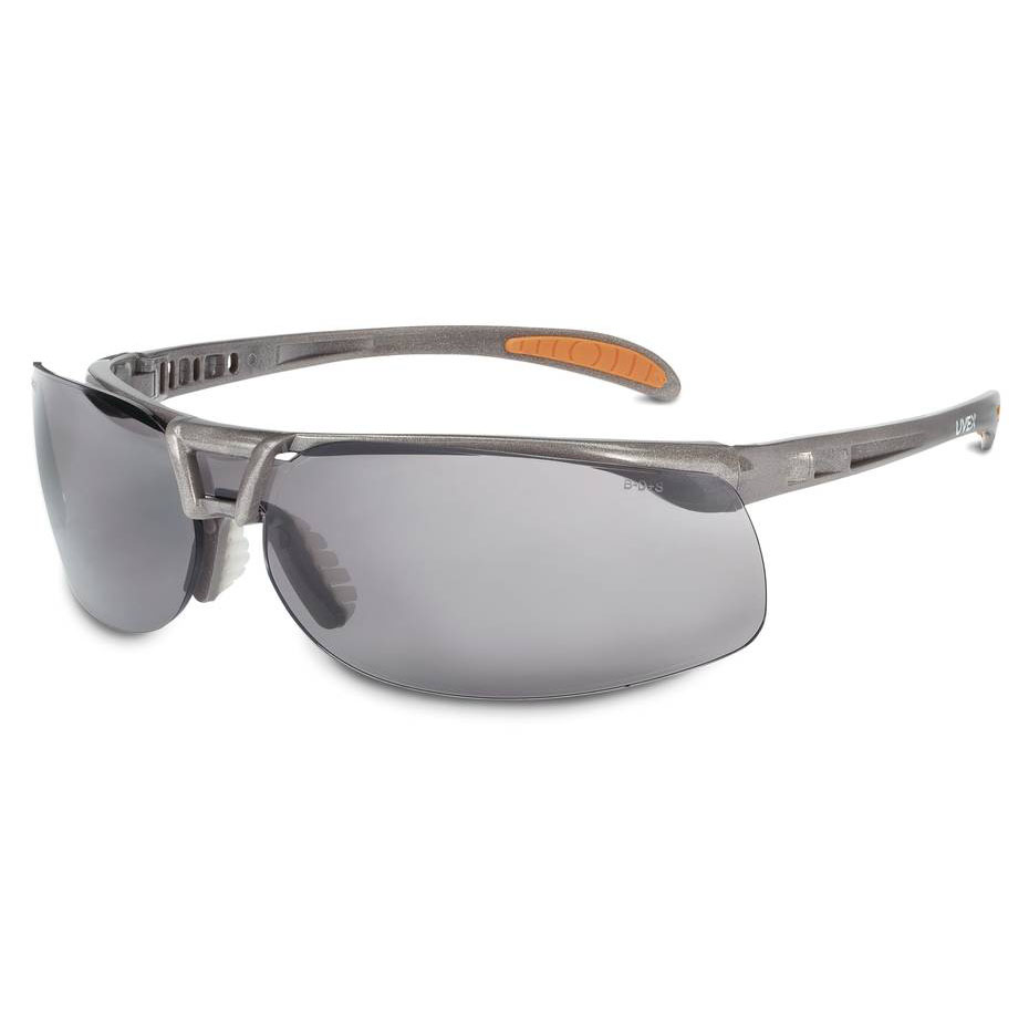 Honeywell Uvex Protege Safety Eyewear, Ultra Lightweight and Floating Lens Design, Sandstone Frame, Gray Lens, Anti-Fog Lens Coating - RWS-51022