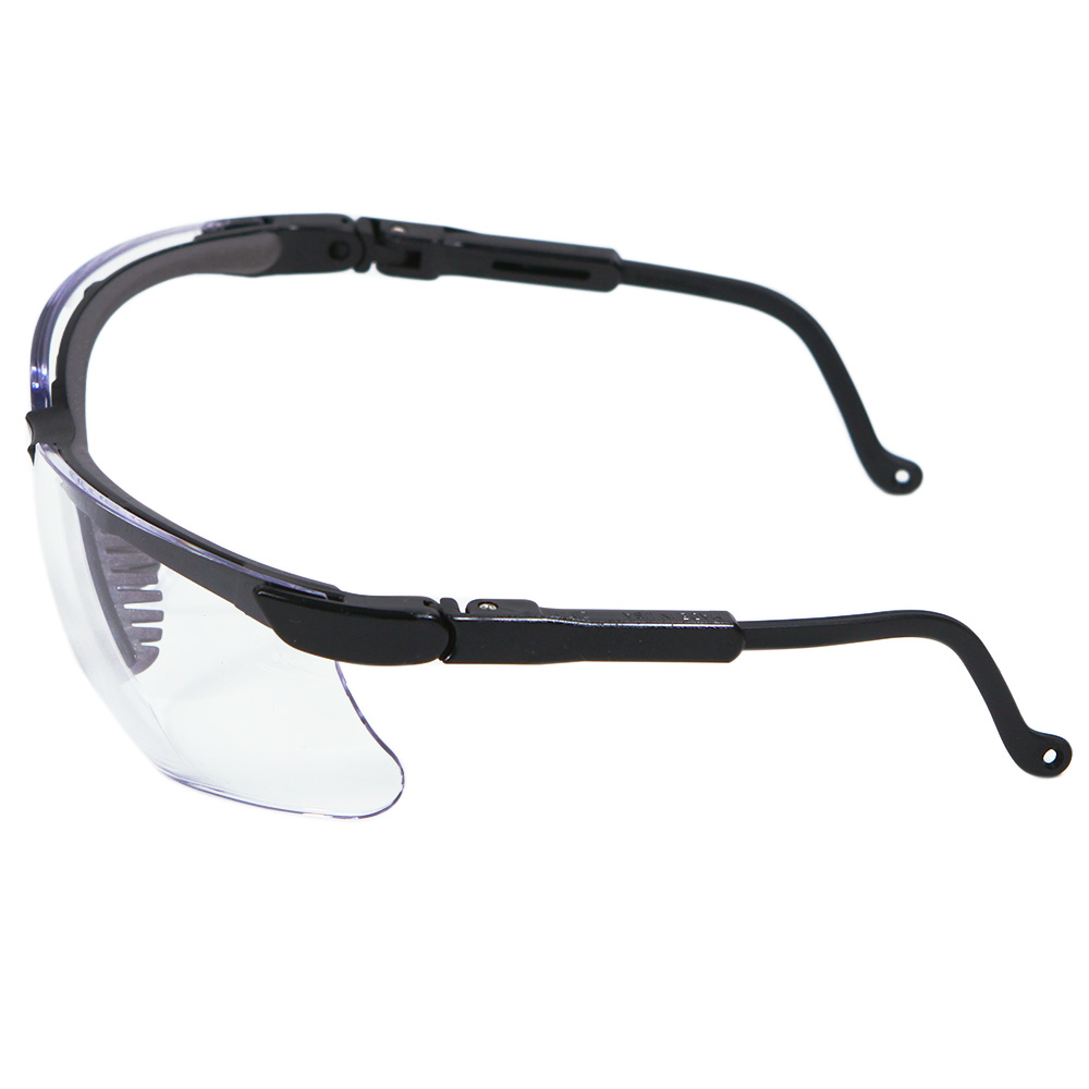 Honeywell Genesis Safety Eyewear, Black Adjustable Frame, Clear Lens, Anti-Fog Lens Coating - RWS-51023