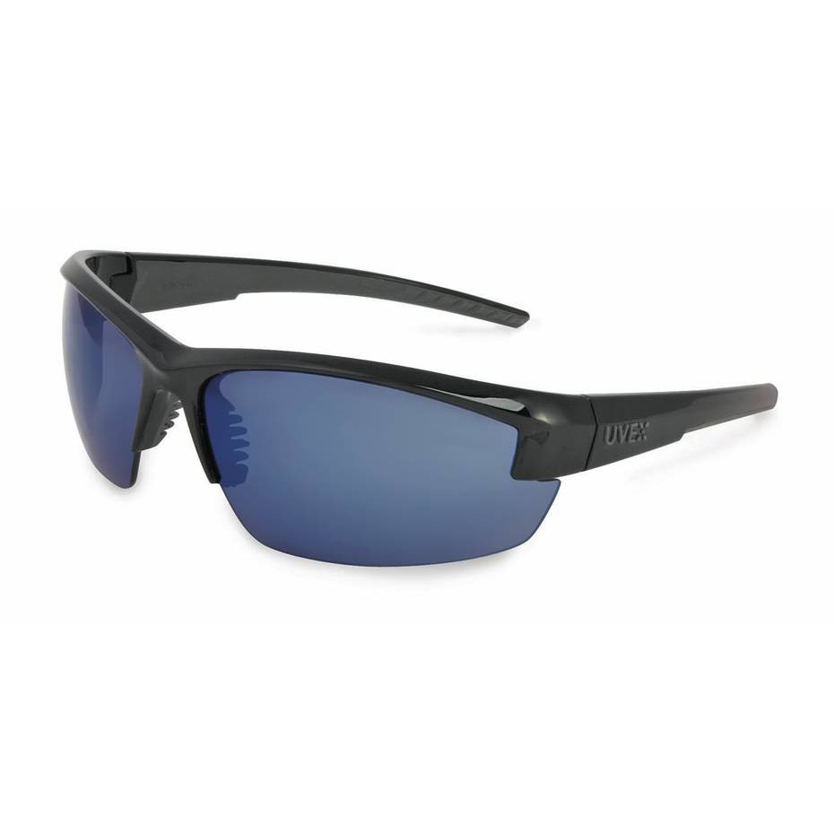 Honeywell Mercury Safety Eyewear with Black Frame, Blue Mirror Lens, Anti-Fog Lens Coating - RWS-51054