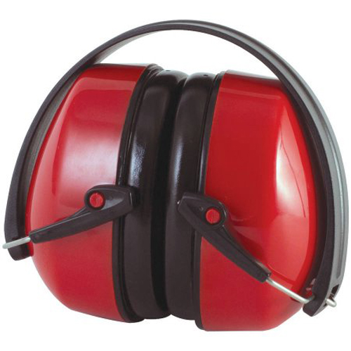 Honeywell Folding Passive Earmuff, Black Band, Red Earcups - RWS-53014