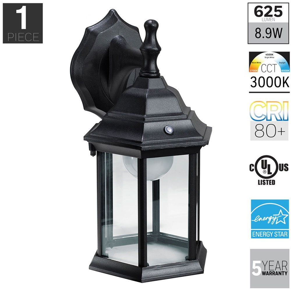 Honeywell LED Outdoor Wall Mount Lantern Light, 3000K, 400 Lumens, SS0101 08