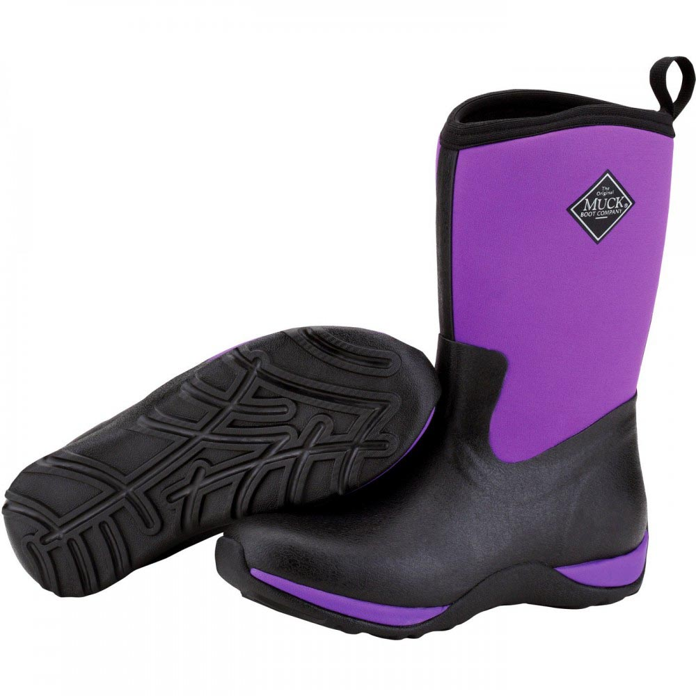 Muck Boots Women's Arctic Weekend Winter Boot, Black/Purple, WAW-400