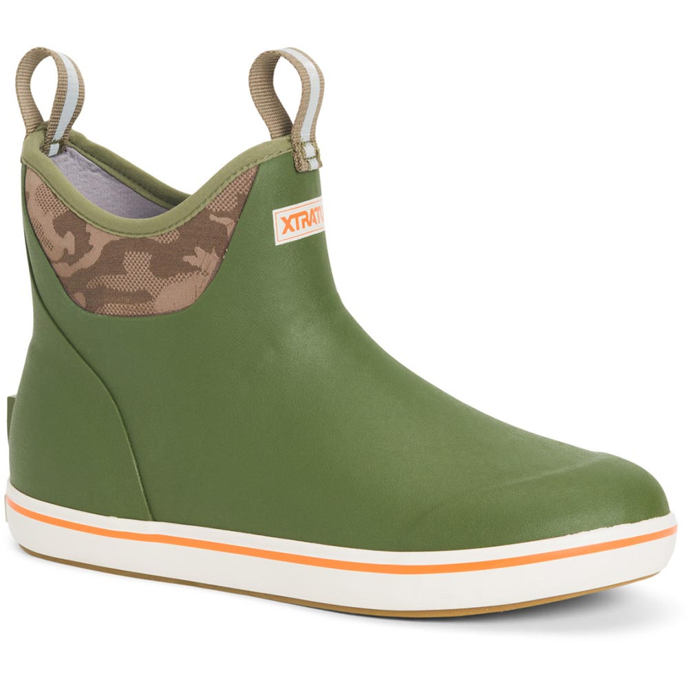 XTRATUF Mens 6 In Ankle Deck Boot Hunter Green
