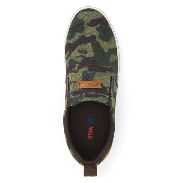 XTRATUF Men's Canvas Sharkbyte Deck Shoe, Camo - XSB-CAM