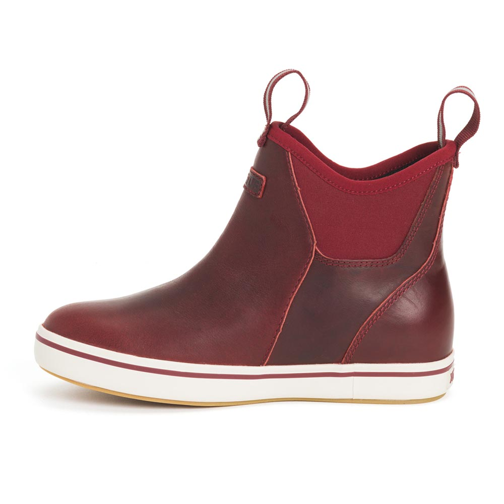 XTRATUF Women's Leather Ankle Deck Boot, Cabernet - XWAL-600