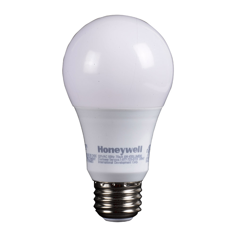 Honeywell LED A19 40W Equivalent Dimmable 3 Pack, A194027HB321