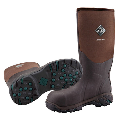 Muck Boots Arctic Pro Extreme Conditions Steel Toe Boot in Bark, ACP-STL