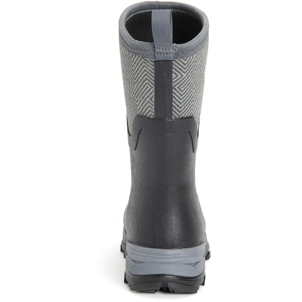 Muck Women's Arctic Ice Mid Boot, Black/Grey Geometric - AS2MV-101