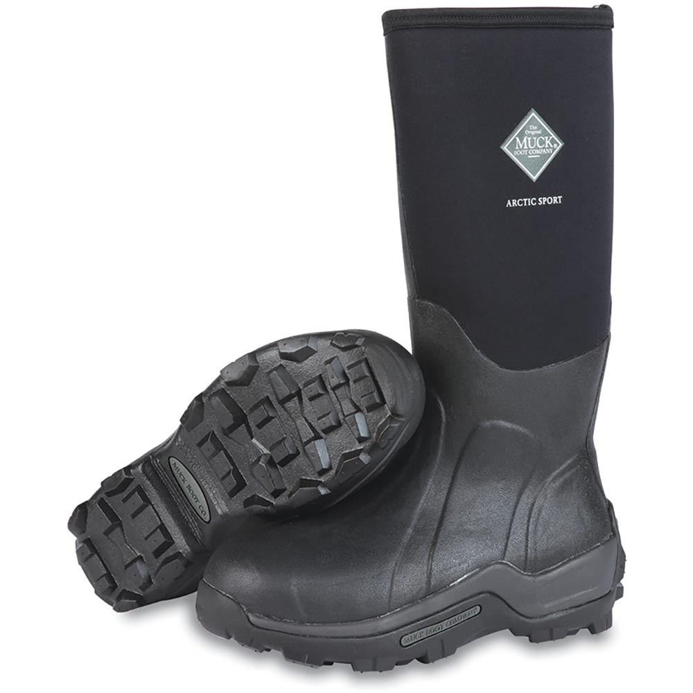 Muck Arctic Sport Steel Toe Boot, Black