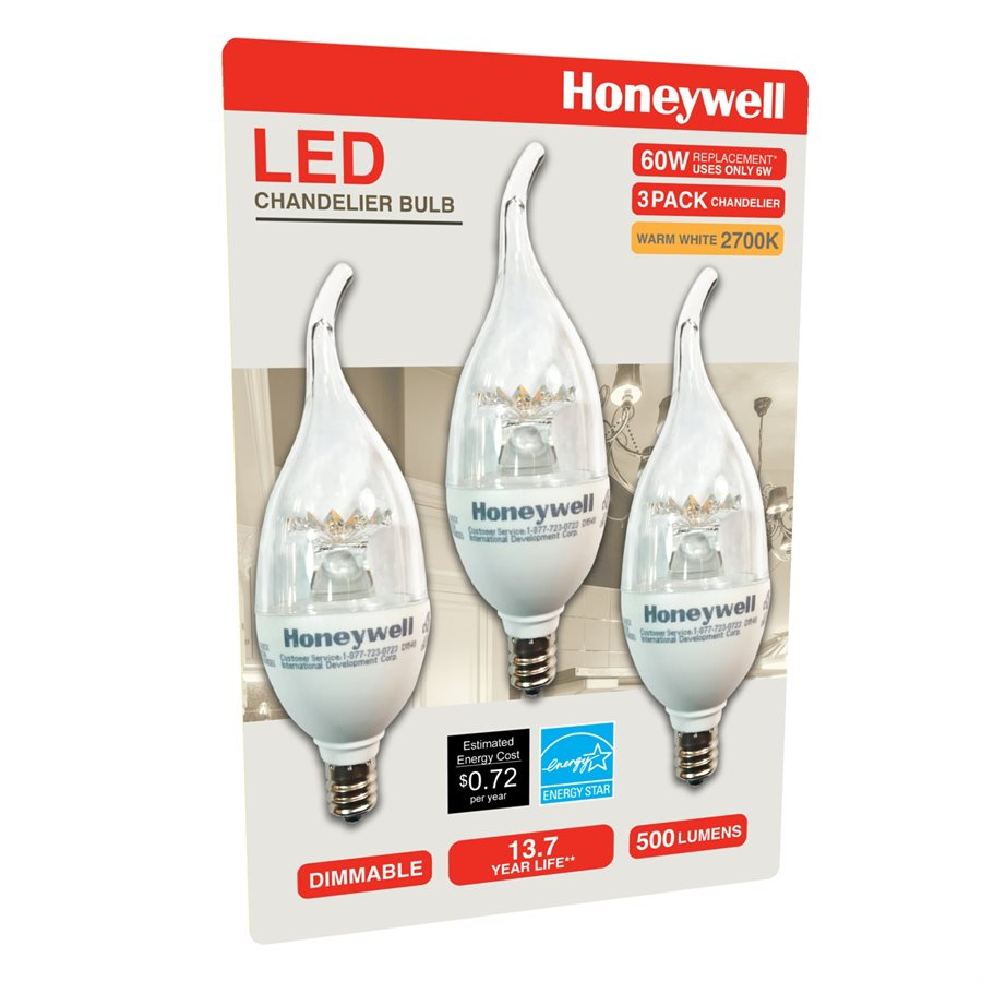 Honeywell b11 candelabra chandelier led light bulbs 60w honeywell b11 candelabra chandelier led light bulbs 60w equivalent dimmable 3 pack b116027hb320 aloadofball Choice Image