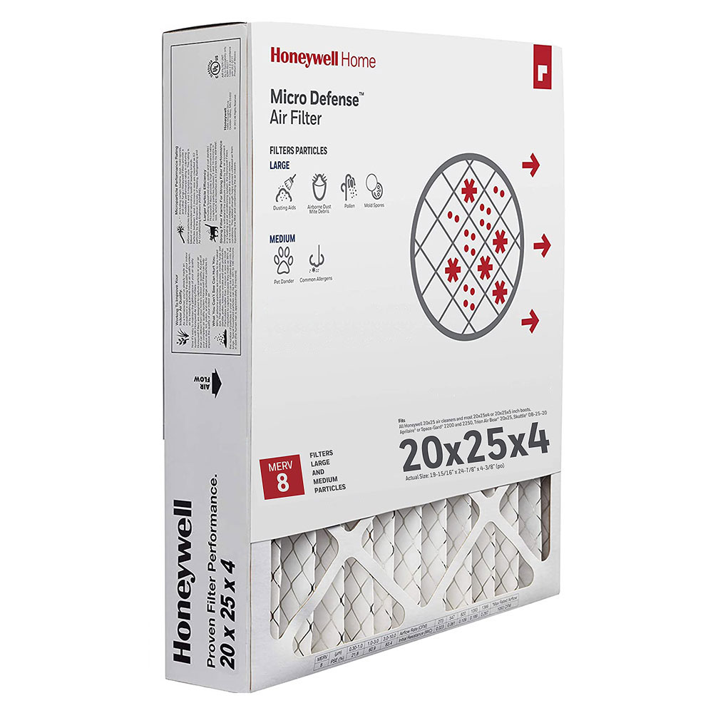 1 pk CF508A2025 Honeywell Home MicroDefense AC Furnace Air Filter 20 x 25 x 5 MERV 10