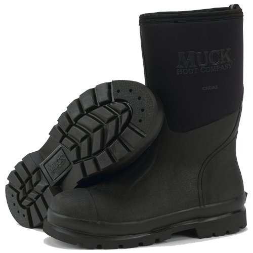 689b7fdf1d9 Muck Boot Chore Mid All-Conditions Work Boot, Black, CHM-000A