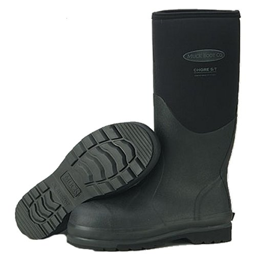 Muck Boot Chore All-Conditions Steel Toe Work Boot Hi, Black, CSH-000A