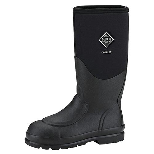 f333b61c409 Muck Boots Chore Steel Toe Met Guard Work Boot in Black, CHS-META