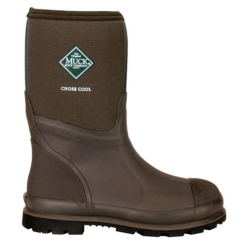 Muck Boots Chore Mid-Cut Xpress Cool Work Boot in Brown, CMCT-900 ...