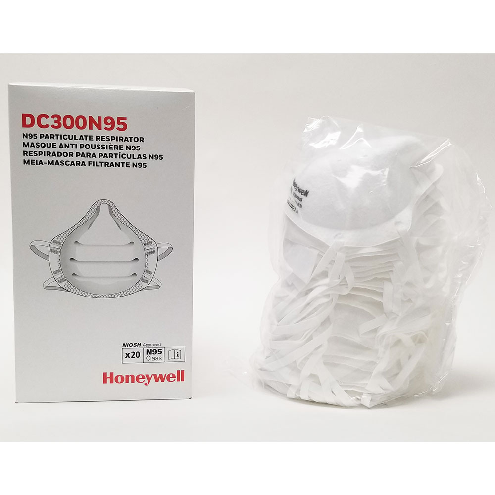 Honeywell N95 Particulate Respirators, 20 Face Mask Pack - DC300N95