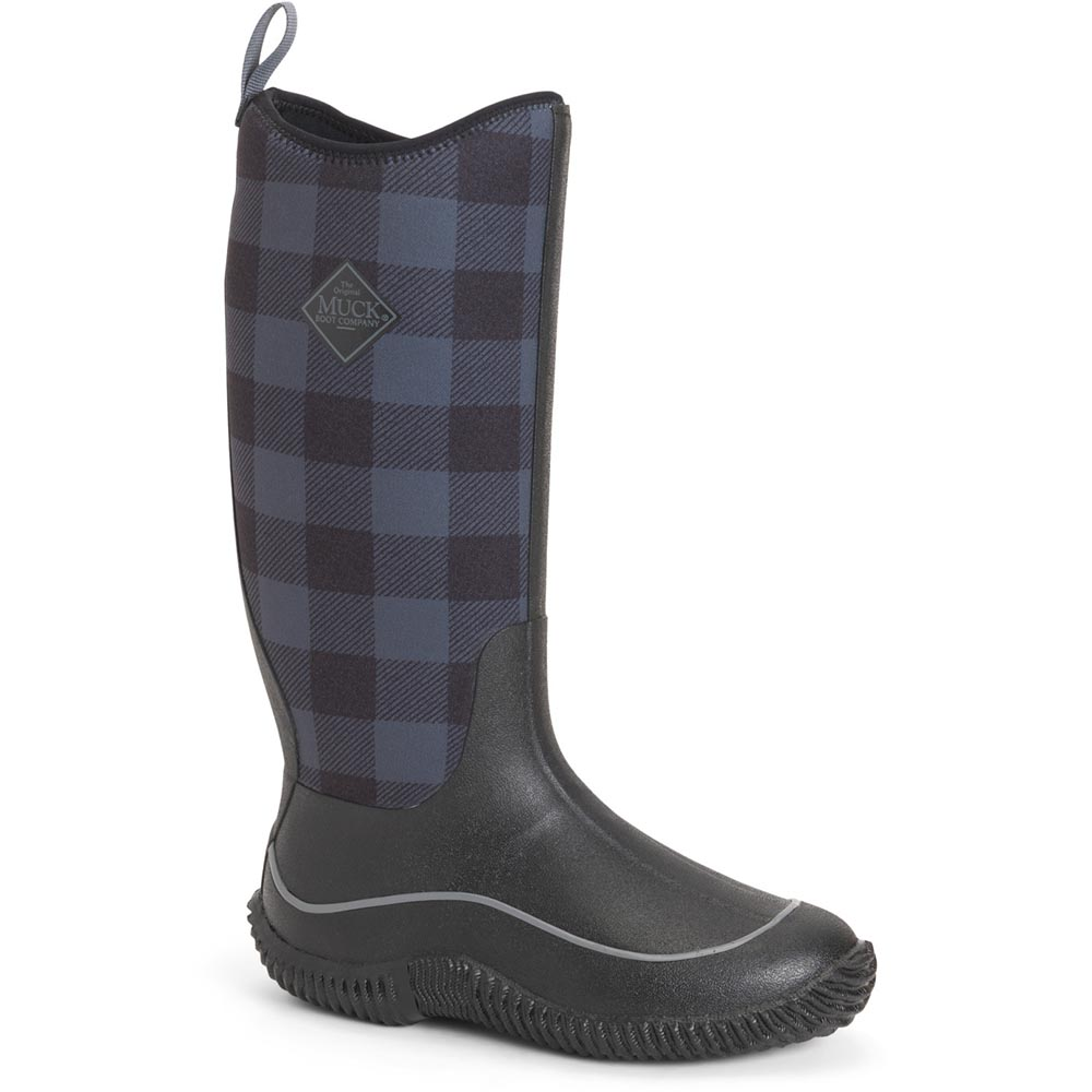 Muck Women's Hale Boot, Black / Gray Plaid - HAW-1PLD