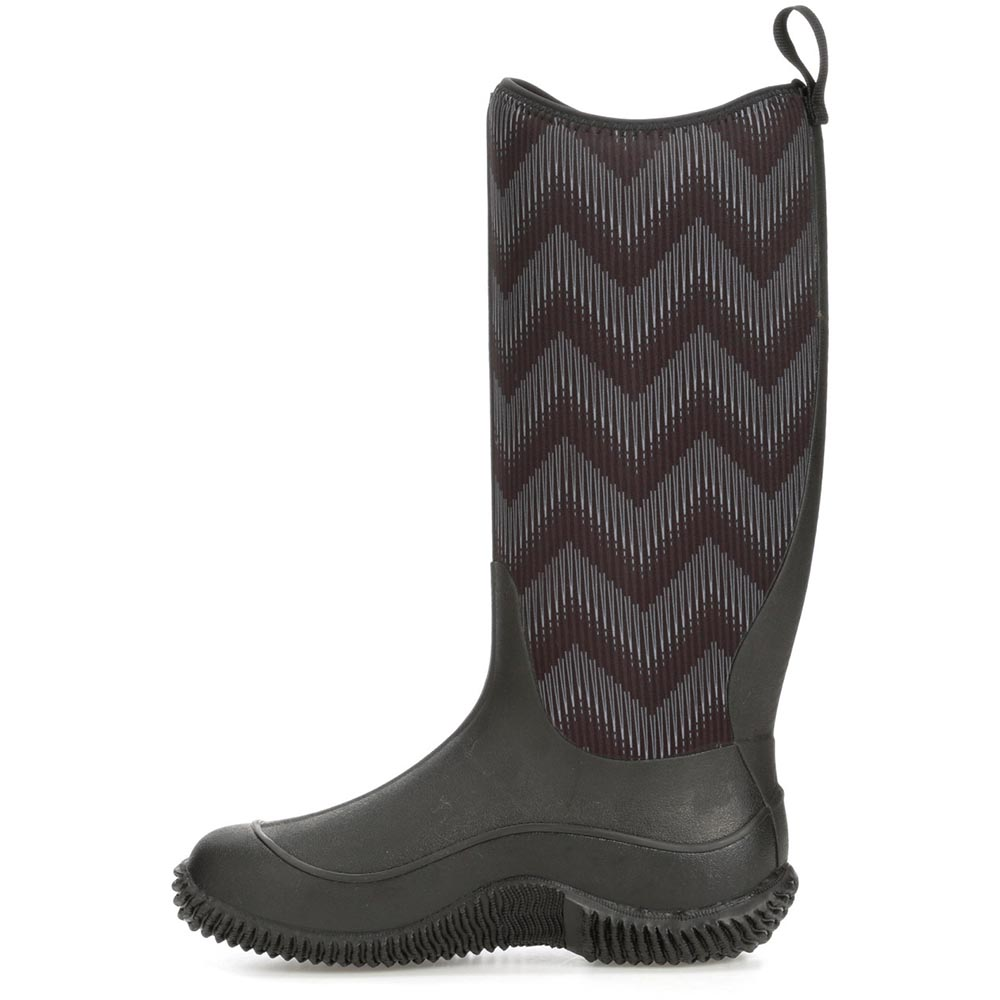 Muck Women's Hale Boot, Black / Black Chevron - HAW-1WAV