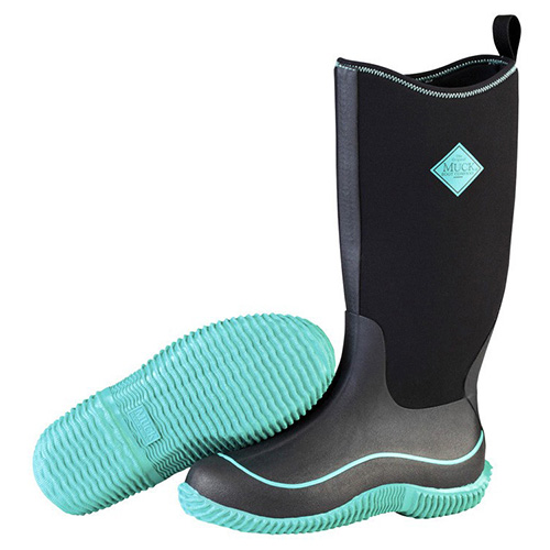 Muck Boots Womens Hale Boot in Black/Jade, HAW-300
