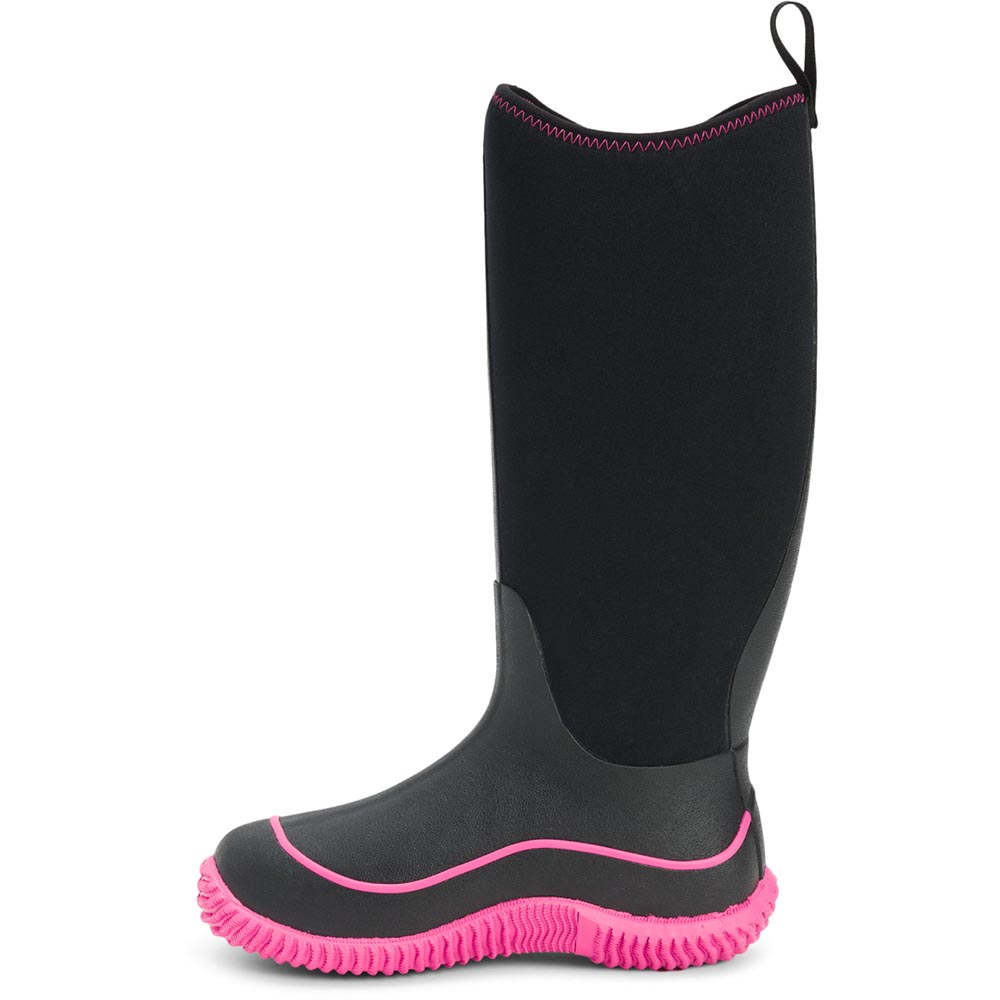 Muck Women's Hale Boot, Black / Hot Pink - HAW-404