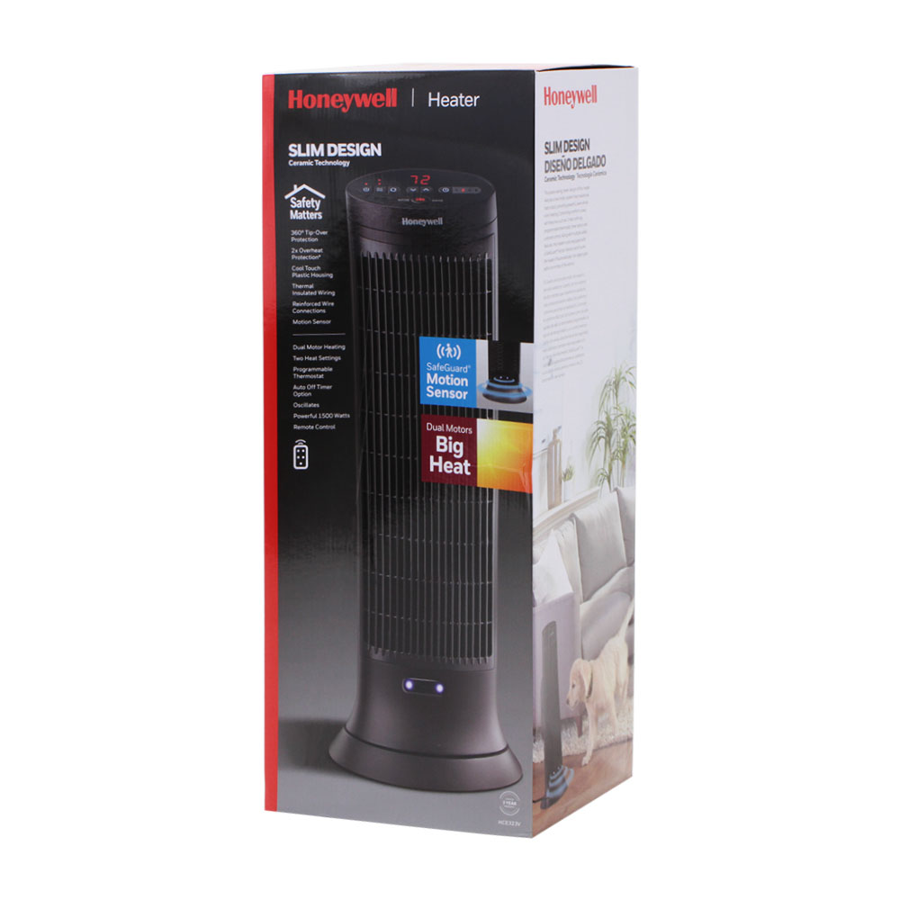Honeywell Digital Ceramic Tower Heater with Motion Sensor, HCE323V