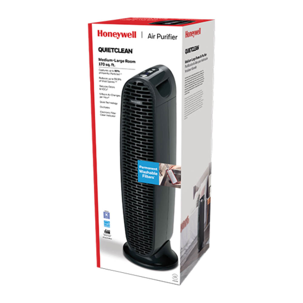 Honeywell QuietClean Tower Air Purifier with Permanent Filters, HFD230BV1