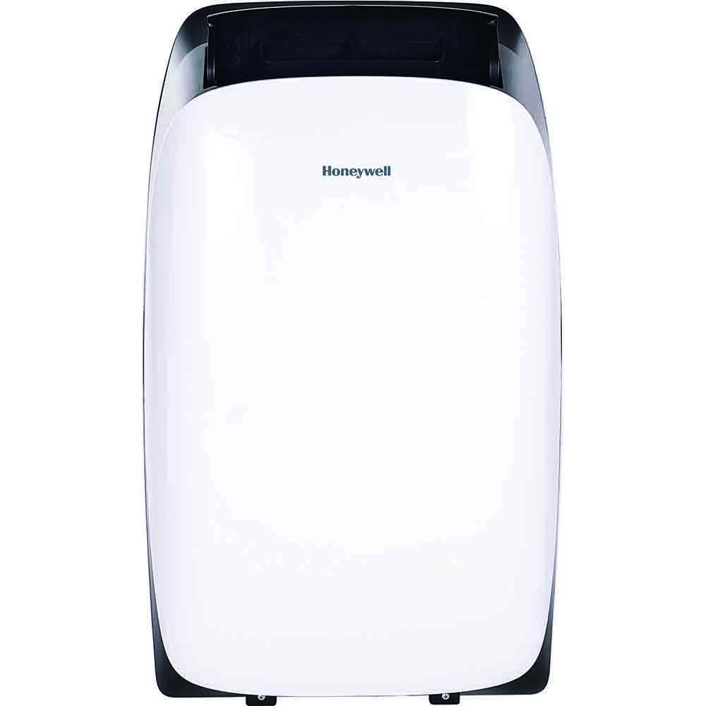 Honeywell HL12CESWK Portable Air Conditioner, 12,000 BTU Cooling, LED Display, Single Hose (White/Black)