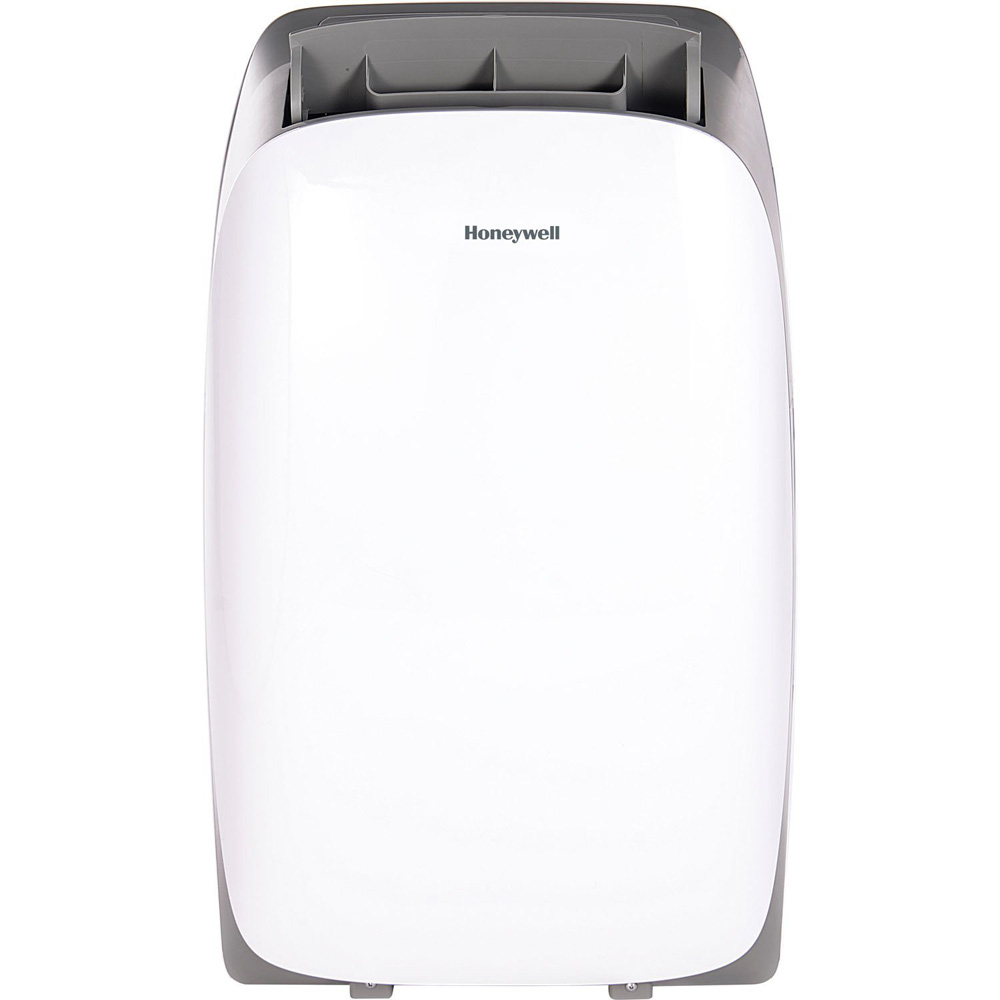 Honeywell HL12CESWG Portable Air Conditioner 12,000 BTU Cooling, LED Display, Single Hose (White-Grey)