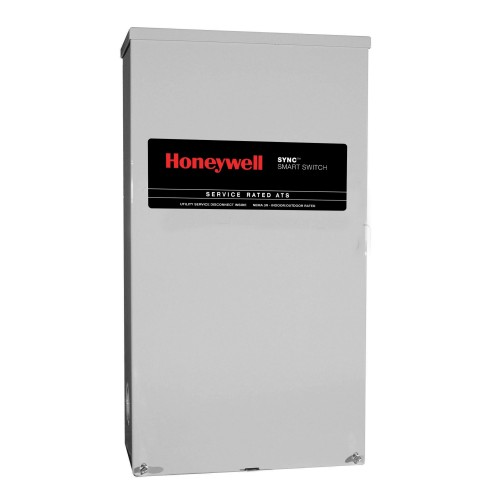 Honeywell RTSM100A3 Single Phase 100 Amp/240 Volt Sync Transfer Switch, Service-Rated