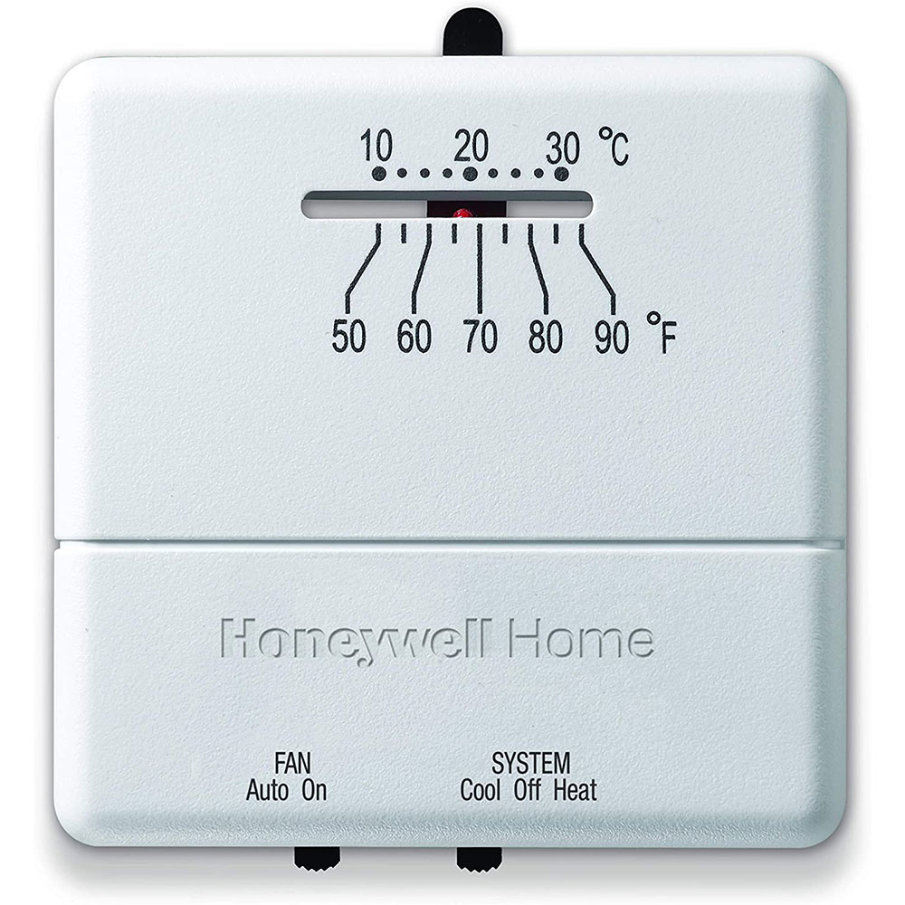 honeywell thermostats, heating thermostats, cooling thermostats and  millivolt thermostats  honeywell ct31a1003/e heat and cool non programmable  thermostat